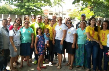 Durval une igrejas e PMJP em ação de saúde