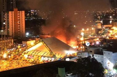 PMCG emite nota sobre incêndio no Parque do Povo; veja vídeos