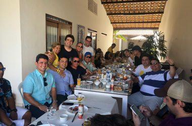 FOTOS: Vereadores de JP fazem festa de despedida de Eduardo Carneiro com animação de Pinto do Acordeon